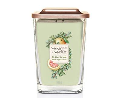 Aromatická svíčka velká hranatá Holiday Garland 552 g
