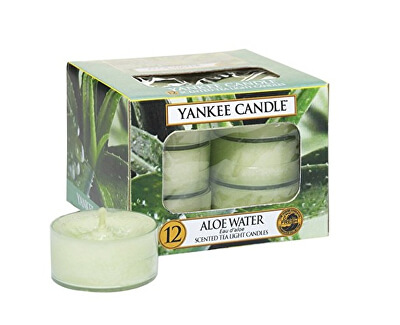 Yankee Candle Aromatické čajové sviečky Voda s aloe (Aloe Water) 12 x 9,8 g