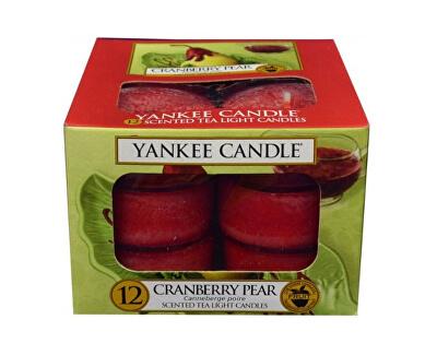 Yankee Candle Aromatické čajové sviečky Brusnica a hruška (Cranberry Pear) 12 x 9,8 g