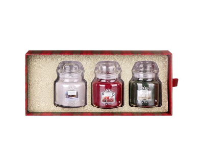 Dárková sada vonných svíček 3 ks (Alpine Christmas Three) 3 x 104 g