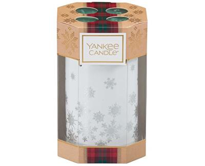 Dárková sada keramický svícen + 4 ks čajových svíček (Alpine Christmas Gift Set) 4 x 9,8 g