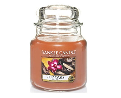 Yankee Candle Vonná svíčka střední Oud Oasis 411 g