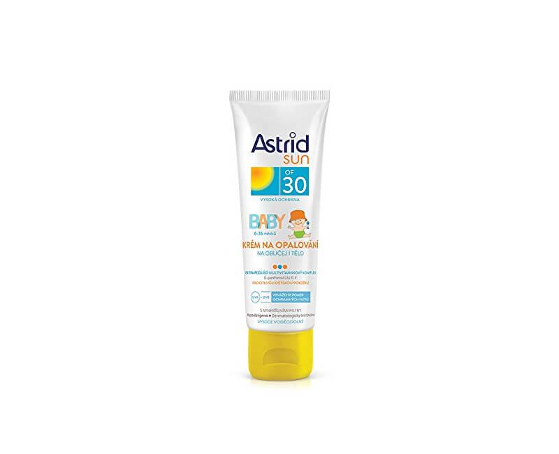 Astrid Dětský krém na opalování na obličej a tělo OF 30 Sun 75 ml