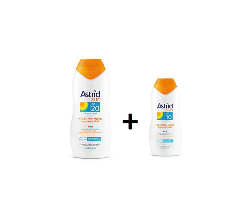 Astrid Hydratační mléko na opalování OF 20200 ml+ Hydratační mléko na opalování OF 10100 mlSUN