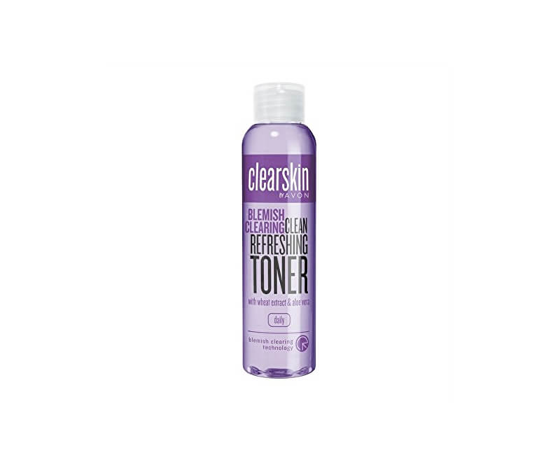 Avon Čisticí pleťová voda proti akné s kyselinou salicylovou, s výtažkem z pšenice a aloe vera Clearskin (Clean Refreshing Toner) 100 ml
