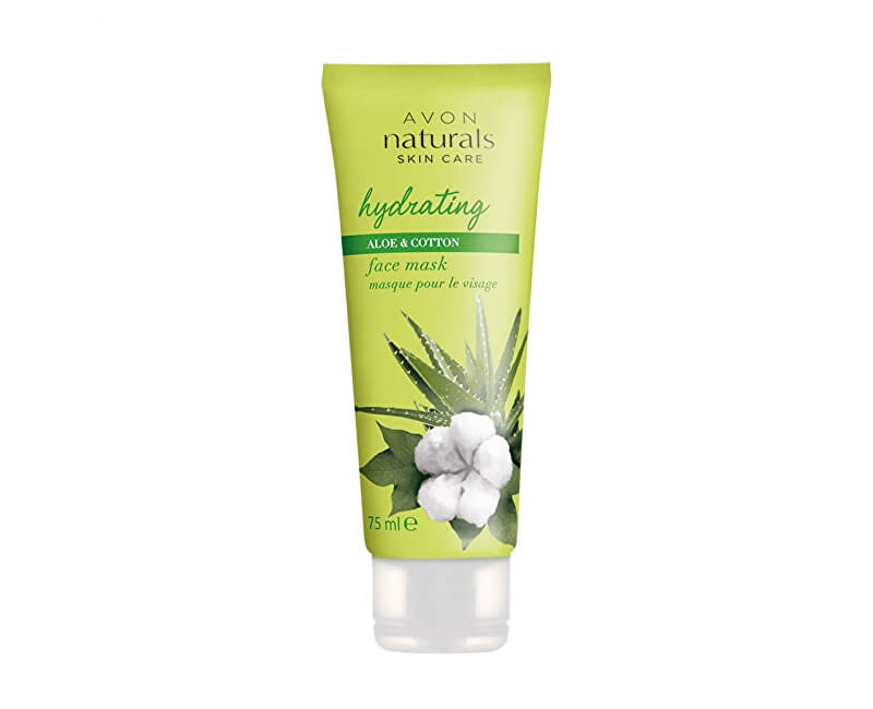 Avon Hydratační pleťová maska s bavlnou a aloe vera Naturals (Face Mask Hydration With Cotton And Aloe Vera) 75 ml