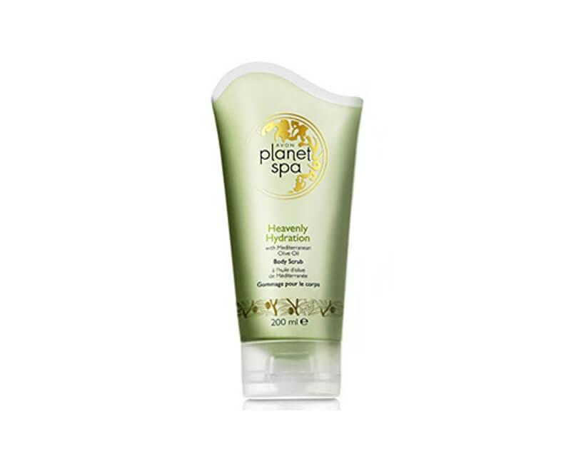 Avon Hydratační tělový peeling s olivovým olejem Planet Spa (Body Scrub Heavenly Hydration with Mediterranean Olive Oil) 200 ml