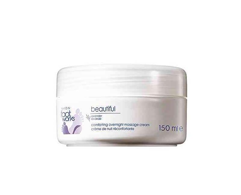 Avon Levandulový zklidňující krém na nohy Foot Works (Overnight Treatment) 150 ml