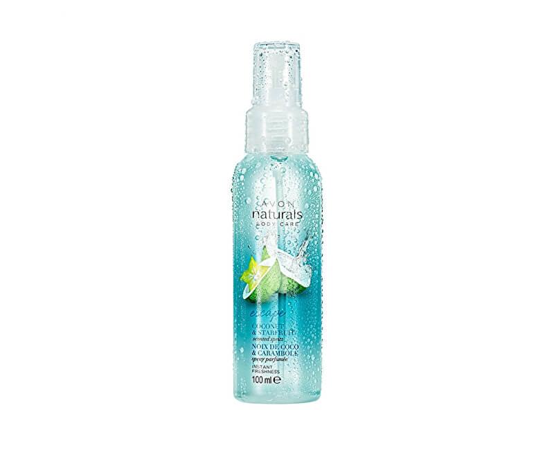 Avon Osvěžující tělový sprej s kokosem a karambolou Naturals 100 ml