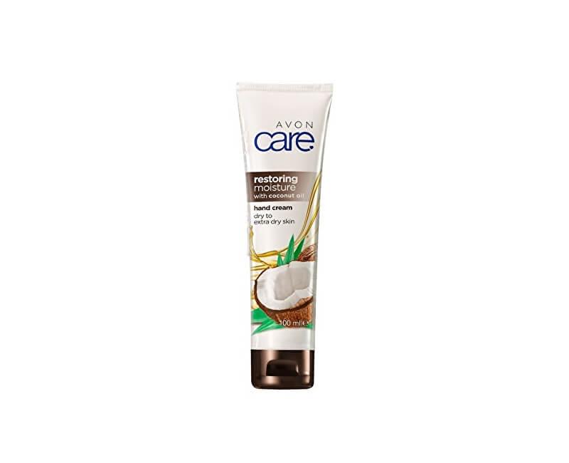 Avon Regenerační hydratační krém na ruce, nehty a nehtovou kůžičku s kokosovým olejem Care (Restoring Moisture Hand Cream) 100 ml