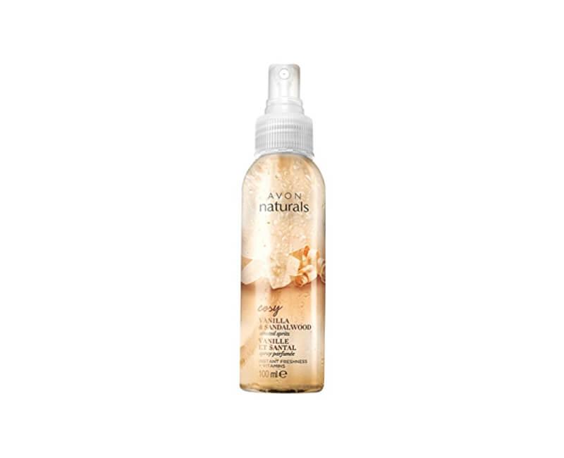 Avon Tělový sprej s Vanilkou a Santalovým Dřevem Naturals 100 ml