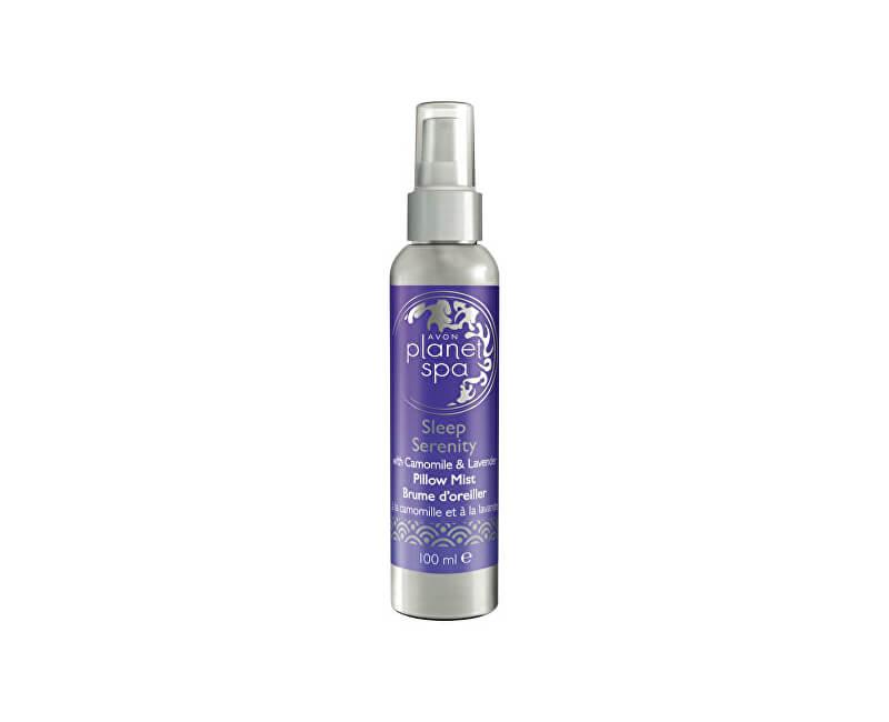 Avon Zklidňující aromatický sprej na polštář s heřmánkem a levandulí Planet Spa (Sleep Serenity Pillow Mist with Camomile & Lavender) 100 ml