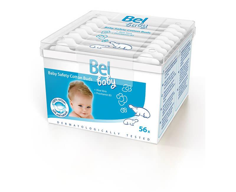 Bel Detské vatové tyčinky Baby (Safety Cotton Buds) 56 ks