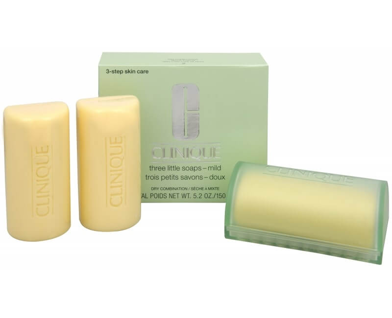 Clinique Čisticí mýdlo na obličej pro smíšenou až mastnou pleť 3 ks (Three Little Soaps Oily Skin Formula) 3 x 50 g
