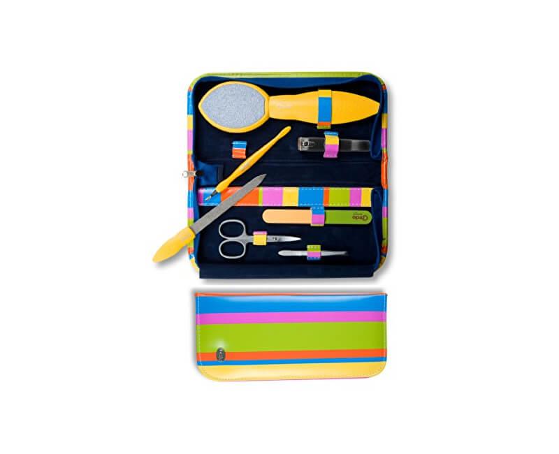 Credo Solingen Luxusní 7 dílná sada na pedikúru a manikúru Pop Art 7 - žlutá