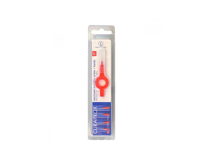 Curaprox Mezizubní kartáčky Prime Plus Handy 07 - 2,5 mm Red 5 ks + UHS 409