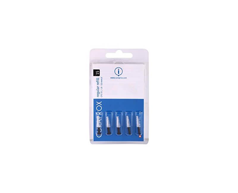 Curaprox Náhradní mezizubní kartáčky Regular CPS 15 - 5,0 mm Černé (Refill) 5 ks