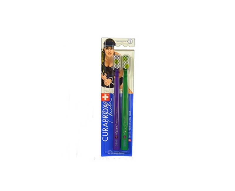 Curaprox Ultra jemný zubní kartáček CS 5460 Ultra Soft Edice A Martina Hingis 2 ks