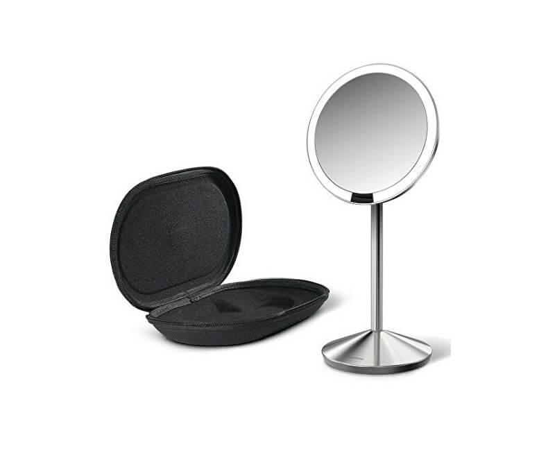 Simplehuman Cestovné dobíjacie kozmetické zrkadielko Sensor s LED osvetlením, 10x zväčšenie