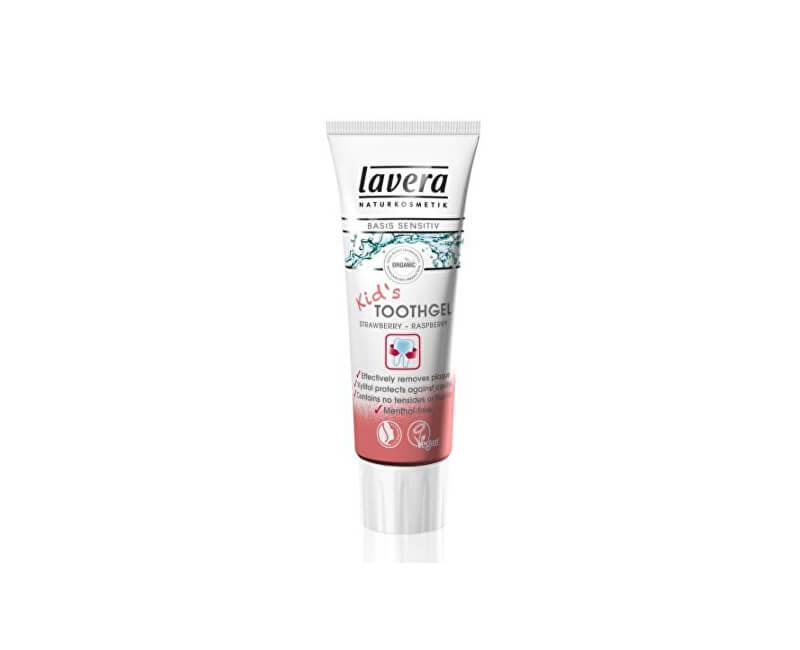 Lavera Dětská zubní pasta s příchutí Jahoda - malina Basis Sensitiv (Kid´s Toothgel) 75 ml