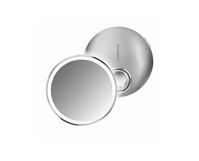 147fb5b276 Simplehuman Pocket újratölthető kozmetikai tükör érzékelő kompakt LED-es  megvilágítással, 3x nagyítással<br Akcióban