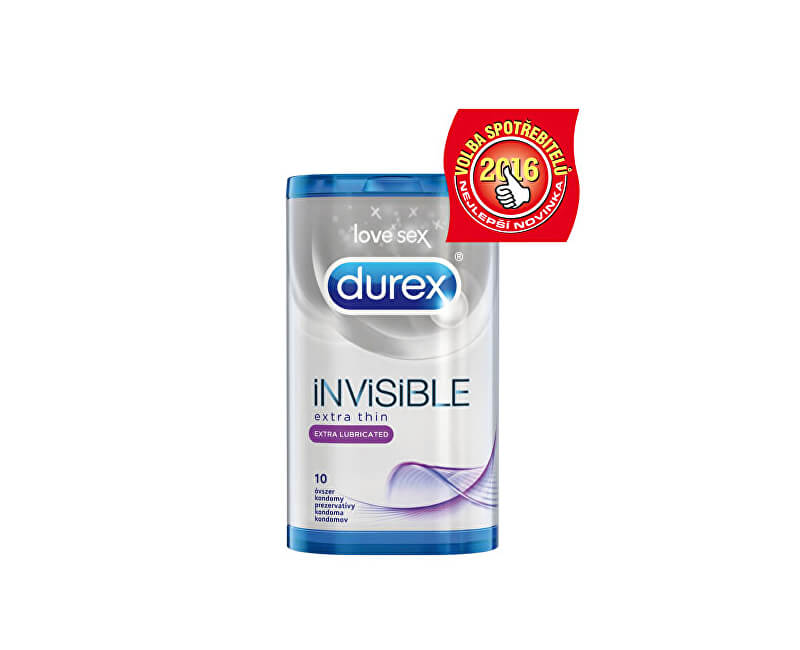 Durex Kondomy Invisible Extra Lubricated