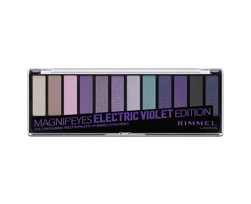 Rimmel Paletka 12 očních stínů MagnifEyes (Eyeshadow Palette) 14 g<br /><strong>007 Electric Violet</strong>