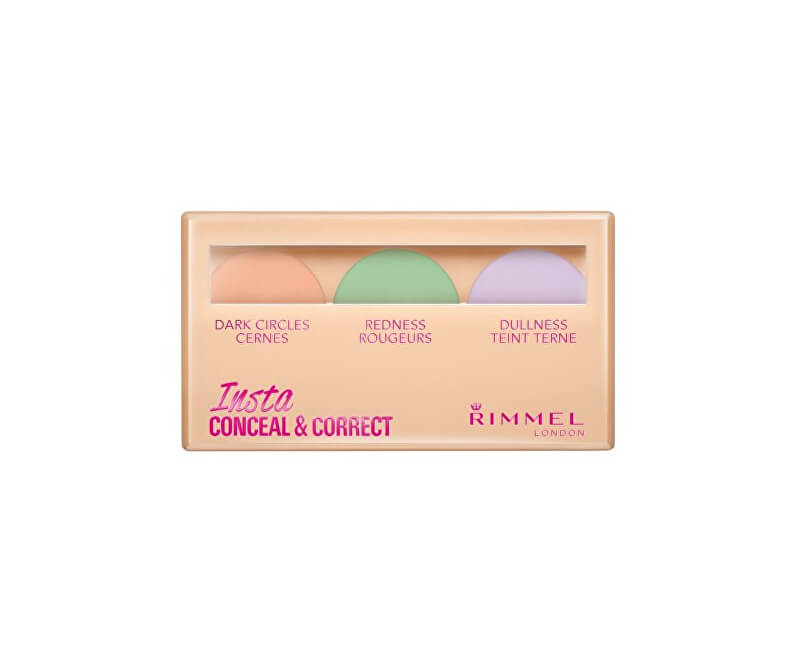 Rimmel Paletka korektorů na pleť (Insta Conceal & Correct Palette) 9 g