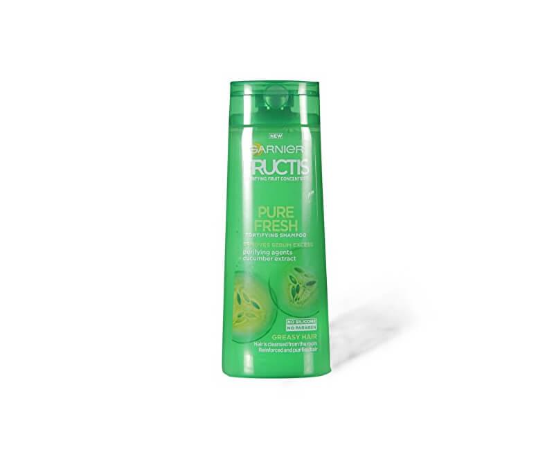 Garnier Posilující šampon na rychle se mastící vlasy Fructis (Pure Fresh Strenghehing Shampoo)