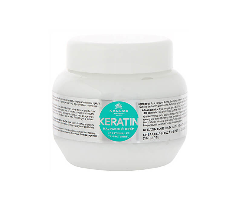 Kallos Regenerační maska na vlasy s keratinem a mléčnými proteiny (Keratin Hair Mask)