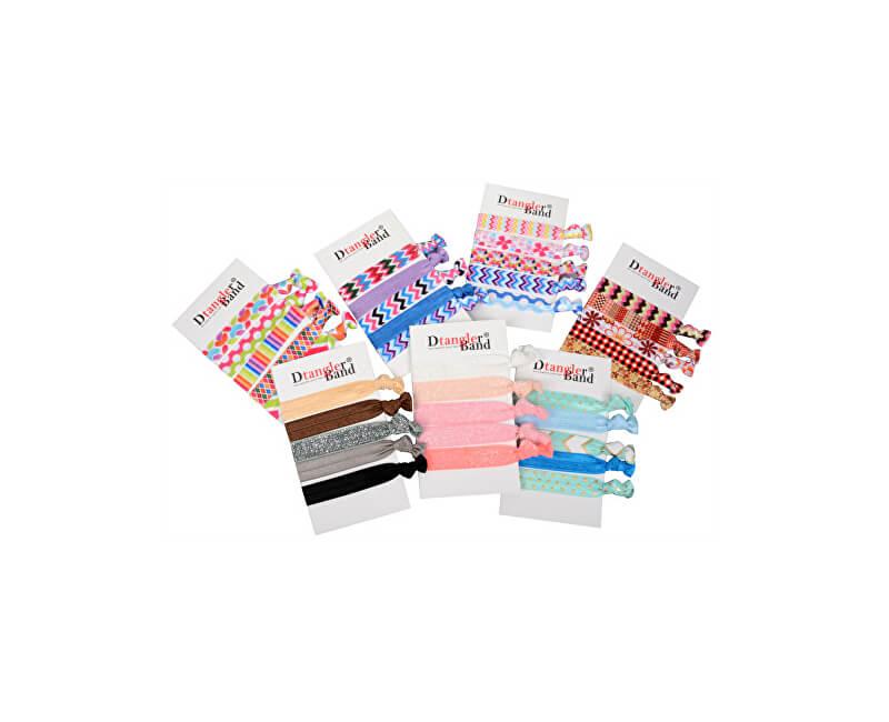 D Tangler Sada rôznofarebných gumičiek do vlasov 5 ks