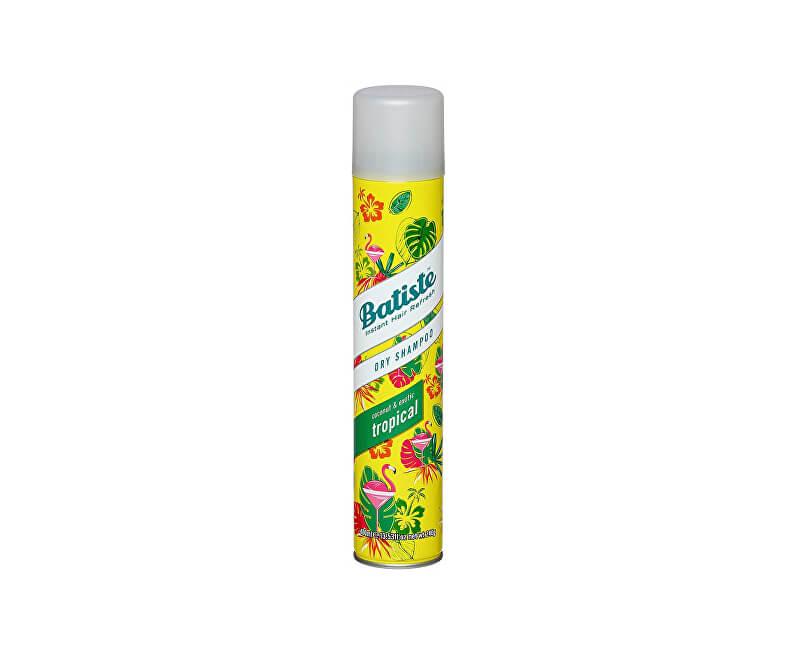 Batiste Suchý šampon na vlasy s vůní tropického ovoce (Dry Shampoo Tropical With A Coconut & Exotic Fragrance)