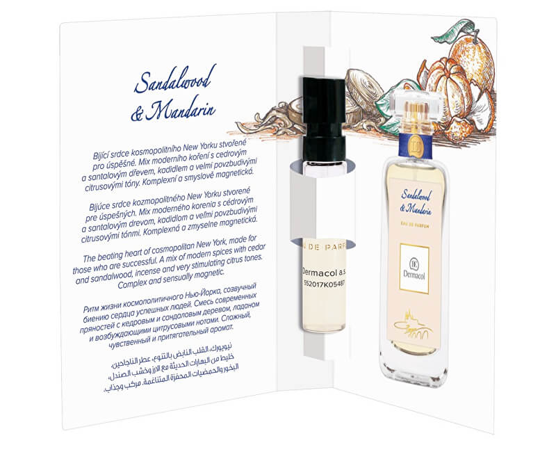 Dermacol Parfémovaná voda Santalwood & Mandarin tester 2 ml