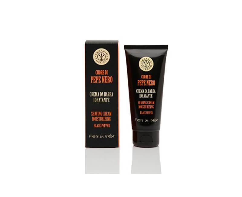 Erbario Toscano Hydratační krém na holení pro muže Černý pepř (Shaving Cream Moisturizing) 100 ml