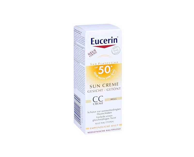 Eucerin CC krém na opalování na obličej SPF 50+ Light (Sun CC Creme) 50 ml