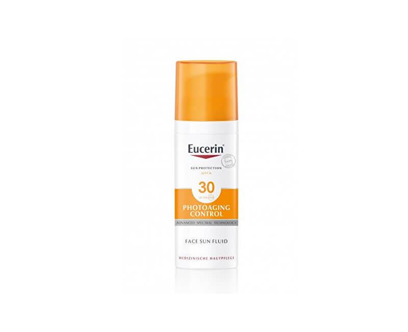 Eucerin Emulze na opalování proti vráskám Photoaging Control SPF 30 (Sun Fluid) 50 ml
