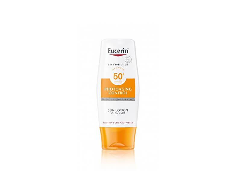 Eucerin Extra lehké mléko na opalování Photoaging Control SPF 50+ (Sun Lotion) 150 ml