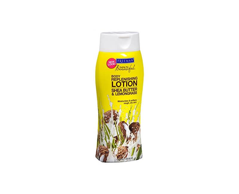 Freeman Vyživující tělové mléko s bambuckým máslem a citronovou trávou (Replenishing Body Lotion Shea Butter & Lemongrass) 400 ml