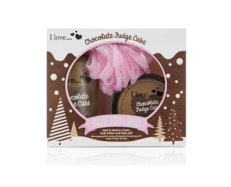 I Love Dárková sada s vůní čokoládového dortu Chocolate Fudge Cake (Delicious Duo)