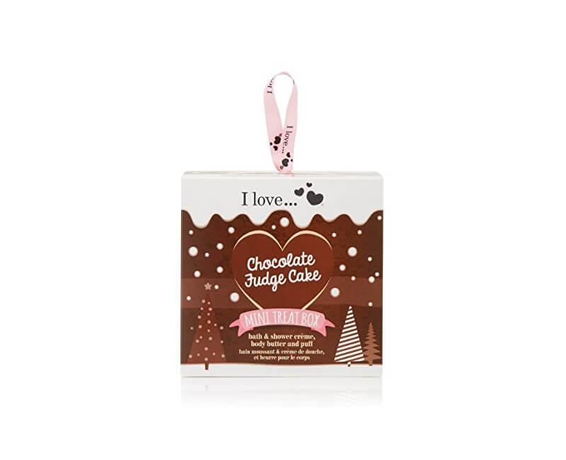 I Love Dárková sada s vůní čokoládového dortu Mini Treat Box Chocolate Fudge Cake