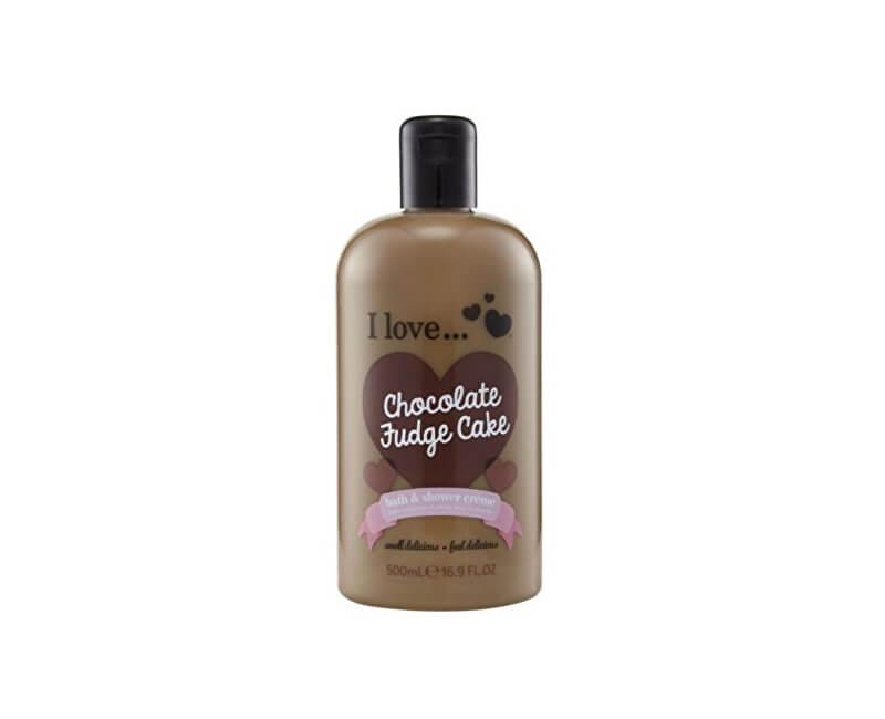I Love Koupelový a sprchový krém s vůní čokoládového dortu (Chocolate Fudge Cake Bath & Shower Creme) 500 ml