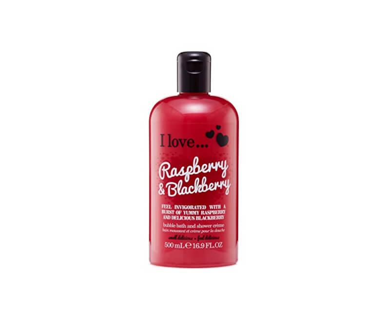I Love Koupelový a sprchový krém s vůní malin a ostružin (Raspberry & Blackberry Bubble Bath And Shower Creme) 500 ml