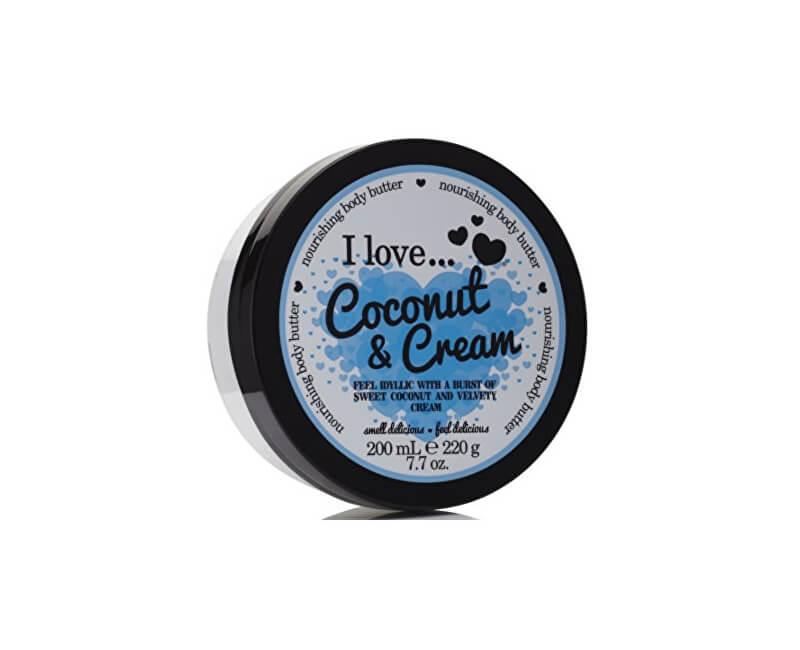 I Love Vyživující tělové máslo s vůní kokosu a jemného krému (Coconut & Cream Nourishing Body Butter) 200 ml