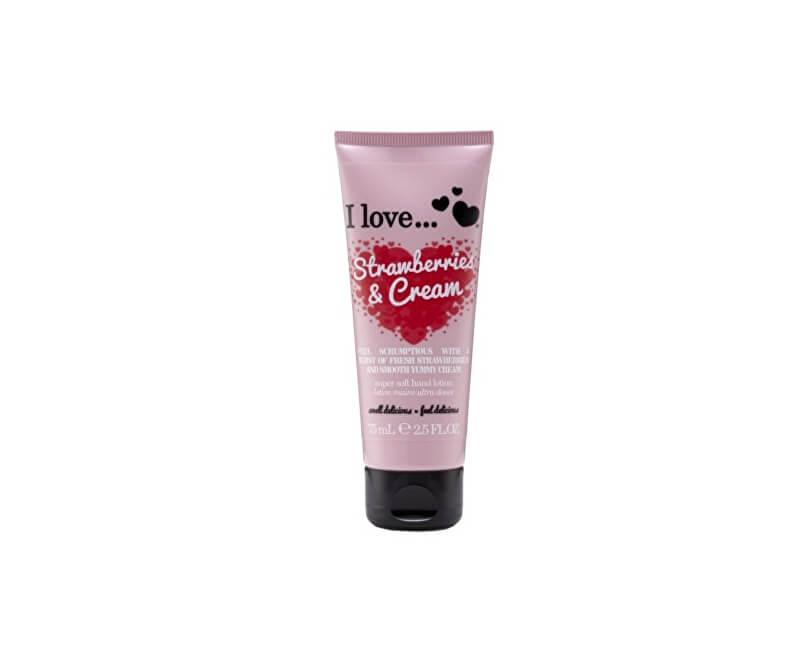 I Love Vyživující krém na ruce s vůní jahod s krémem (Strawberries & Cream Super Soft Hand Lotion) 75 ml
