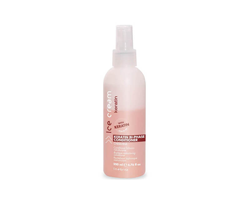 Inebrya Dvojfázový bezoplachový kondicionér Ice Cream Keratin (Keratin Bi-  Phase Conditioner) 200 ml 9bb6a279a6e
