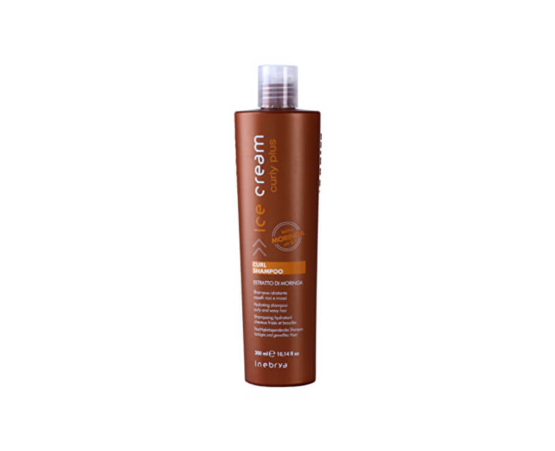 Inebrya Šampon pro kudrnaté vlasy nebo vlasy po trvalé Ice Cream Curly Plus (Curl Shampoo) 300 ml