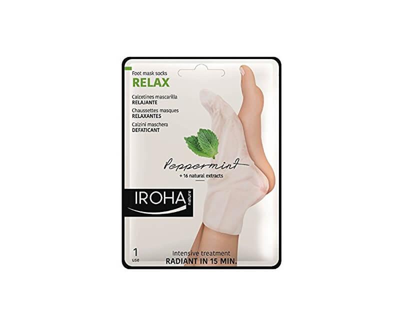 1548282b71 Iroha Relaxační maska na nohy a nehty s mátou a přírodními výtažky  (Peppermint Foot Mask ...