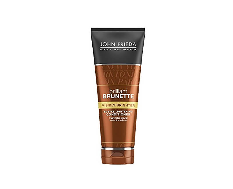 John Frieda Kondicionér pro lesk hnědých vlasů Brilliant Brunette Visibly Brighter (Subtle Lightening Conditiooner) 250 ml