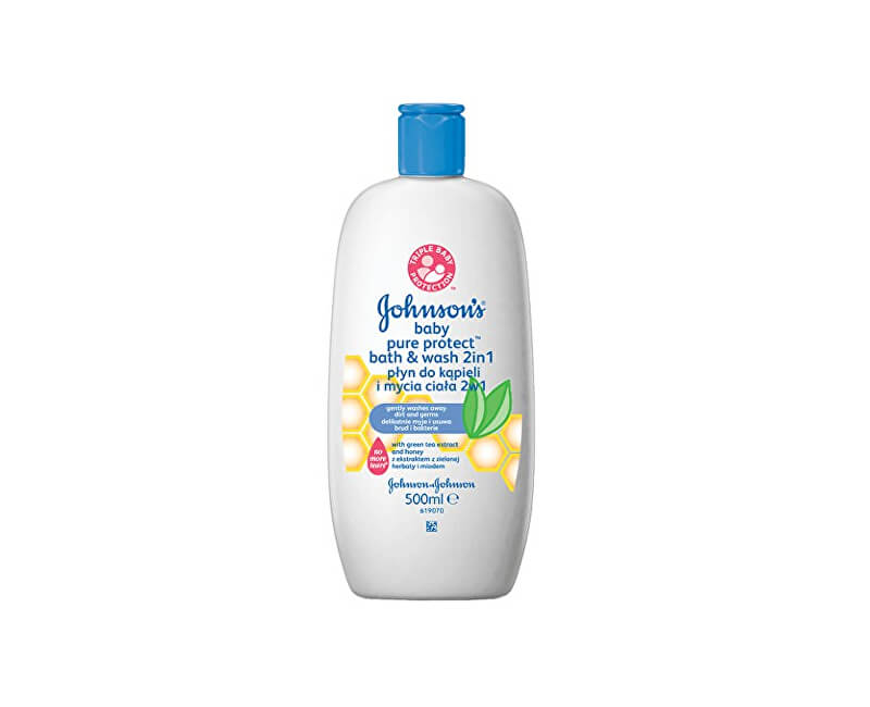 JOHNSON`S Baby Koupel a mycí gel Baby Pure Protect 500 ml