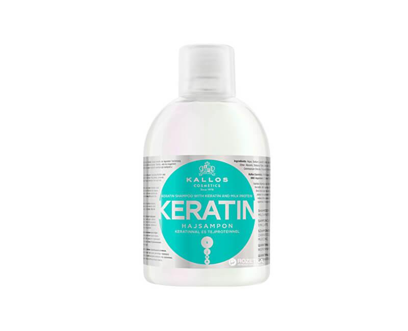 Kallos Regenerační šampon s keratinem a mléčnými proteiny (Keratin Shampoo) 1000 ml